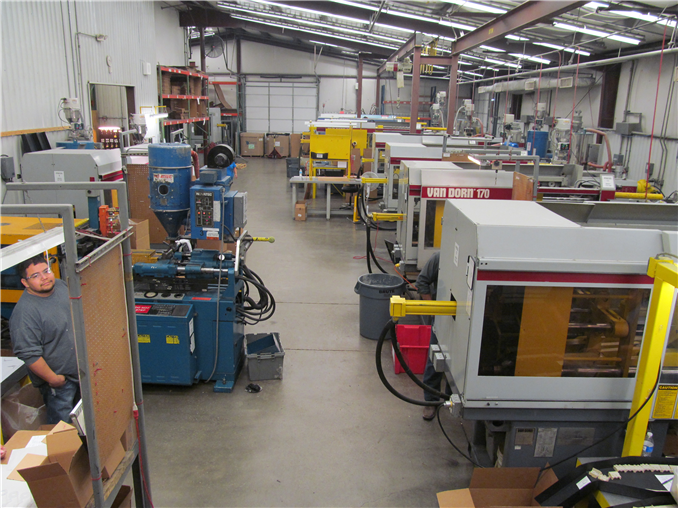 Molding Presses, ranging from 22 to 500 tons/